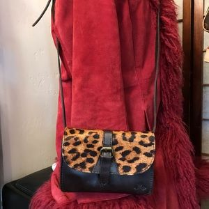 Patricia Nash Bags - Patricia Nash Leopard Genuine Leather Crossbody